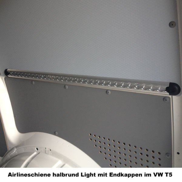light 0,5 Meter Airlineschiene//Zurrschiene halbrund