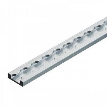 Airlineschiene eckig Light - 2 Meter